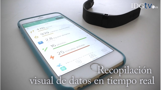 Fitbit Charge con notificaci�n de llamadas