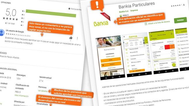 Facua avisa de una app fraudulenta que suplanta a bankia tendencias cso espa a - Bankia oficina movil ...